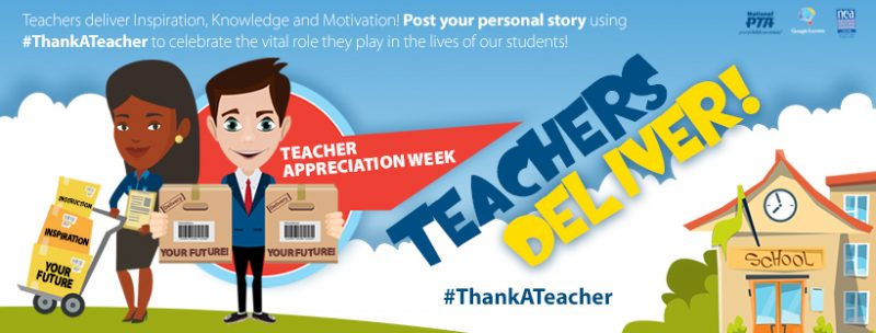 #ThankATeacher graphic