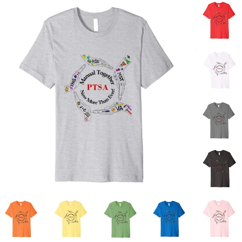 Manual Together PTSA Logo Shirts Now Available