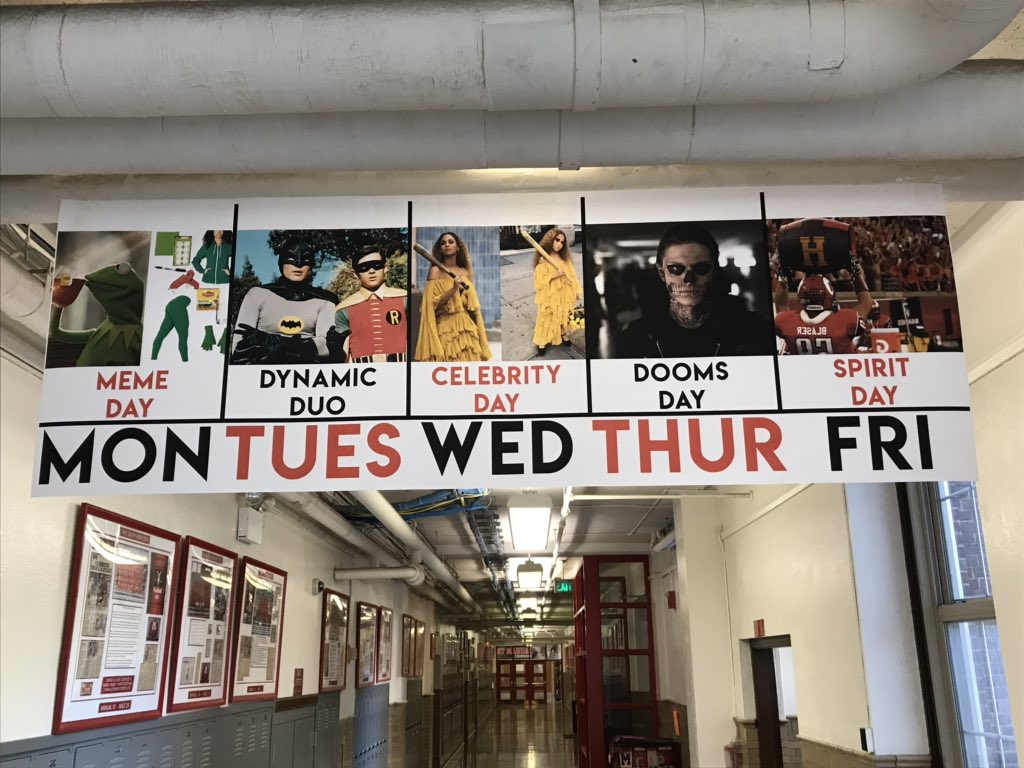 Daily Themes for Red-White Week