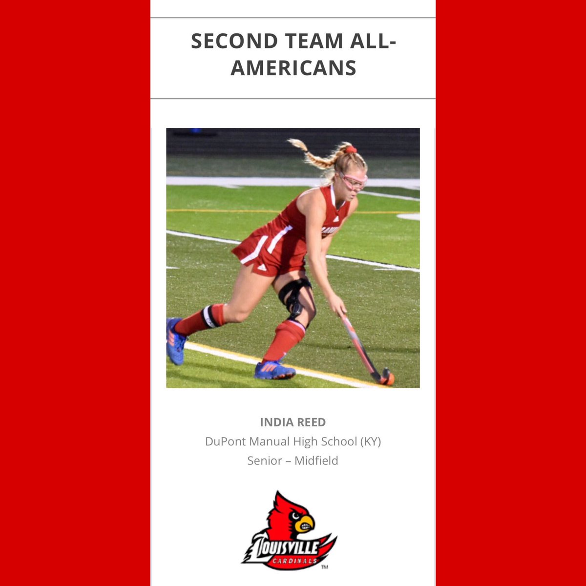 India Reed Named Manual's First Ever All American for Field Hockey