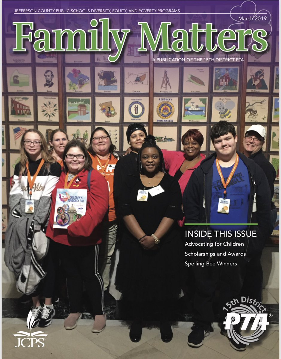 March News from the 15th District PTA