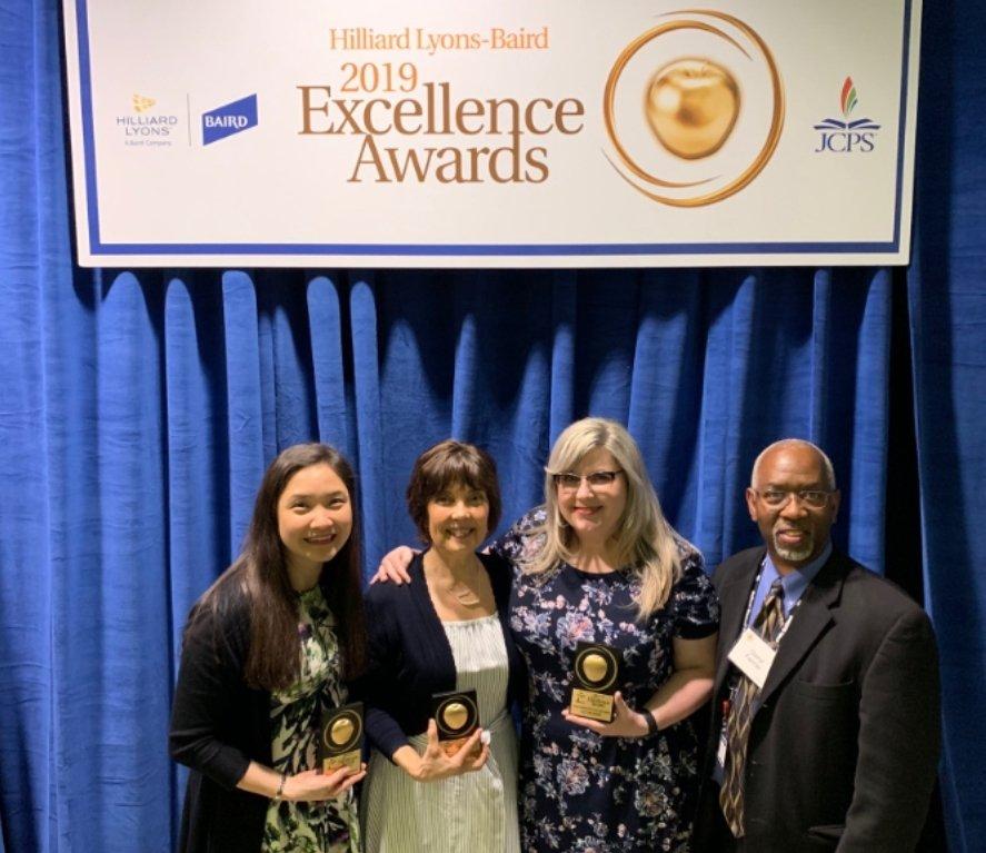 Teachers Jennifer Profitt, Georgette Kleier-Hottois & Liz Palmer win Excellence Awards